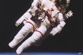 US astronaut in space