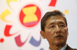 North Korean Foreign Ministry spokesman Ri Tong Il speaks at a news conference during an Association of Southeast Asian Nations foreign ministers meeting in Kuala Lumpur, Malaysia, Aug. 6, 2015.