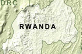 Map of Rwanda, where the National Police is now made up of 20% women.