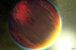 Artist rendering of the exoplanet HD 189733b (NASA)