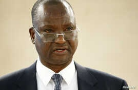 FILE - Taban Deng Gai, first vice president of South Sudan, attends the 34th session of the Human Rights Council at the European headquarters of the United Nations in Geneva, Switzerland, Feb. 27, 2017.