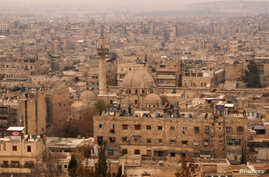 A general view shows the Old City of Aleppo as seen from Aleppo's historic citadel, Syria,  Dec. 11, 2009.