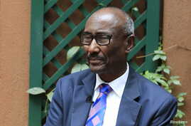 FILE - Somalia's Central Bank Governor Bashir Issa Ali speaks during a Reuters interview in Kenya's capital Nairobi, Jan. 28, 2016.