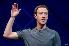 FILE - Facebook CEO Mark Zuckerberg speaks at his company's annual F8 developer conference in San Jose, California, April 18, 2017.