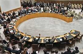 Security Council members vote for tough new sanctions against North Korea after its latest nuclear test, U.N. headquarters, New York, March 7, 2013.