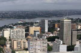 Buildings are seen in the Plateau district in Abidjan, Ivory Coast, Sept. 11, 2015.