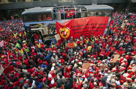 Members of the National Union of Metalworkers (NUMSA) march on the first day of a nationwide strike in Johannesburg, July 1, 2014.
