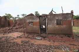 Deserted, razed villages line more than 100 kilometers of road south of Bossangoa.
