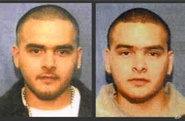 FILE - This undated combination of photos from wanted posters released by the U.S. Marshals Service shows Pedro Flores, left, and his twin brother, Margarito Flores.