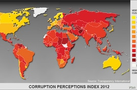 EMBARGOED Transparency Corruption Index 2012