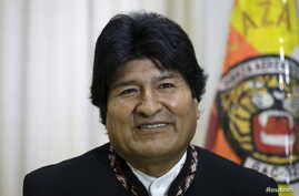 Bolivia's President Evo Morales talks to Reuters during an interview in Santa Cruz, Bolivia, July 9, 2015.