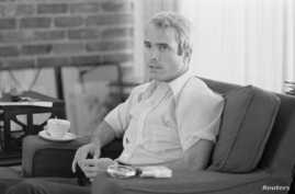 U.S. Navy Lt. Comdr. John S. McCain is interviewed about his experiences as a prisoner of war during the war in Vietnam, April 24, 1973.