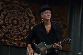 FILE - Rodney Crowell performs at Magnolia Fest at the Spirit of Suwannee Music Park in Live Oak, Florida, Oct. 18, 2014.