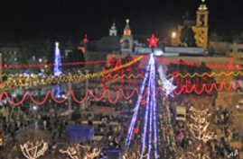 Pilgrims Flock to Bethlehem to Celebrate Christmas