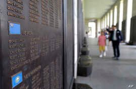 The list of the U.S. soldiers who were killed in the Korean War is displayed at the Korea War Memorial Museum in Seoul, South Korea, July 15, 2018. South Korea's Yonhap news service said North Korea is preparing to return remains of U.S. war dead on