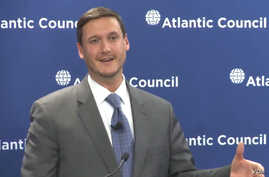 Tom Bossert, a fellow at the Atlantic Council, participates in a 2013 panel discussion on cyber security at the Atlantic Council.