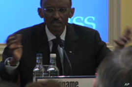 Rwandan President Paul Kagame disputes a UN report alleging war crimes by Rwandan soldiers while giving the prestigious Oppenheimer lecture at London's International Institute for Strategic Studies.