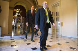 Majority Whip Steve Scalise, R-La., walks to the House chamber on Capitol Hill for a vote to block Planned Parenthood's federal funds for a year, Sept. 18, 2015.
