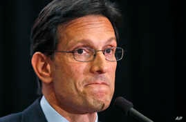 House Majority Leader Eric Cantor, R-Va., delivers a concession speech in Richmond, Va., Tuesday, June 10, 2014.