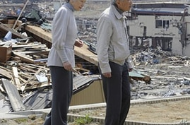 Japan's Emperor, Empress, Visit Quake's Hardest-Hit Areas