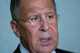 Russian Foreign Minister Sergey Lavrov, New York, Sept. 19, 2017.