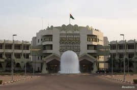 A view shows Burkina Faso's presidential palace in Ouagadougou, Nov. 23, 2014.