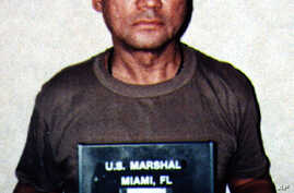 Former Panamanian strongman Manuel Noriega, pictured in this January 4, 1990 file photo