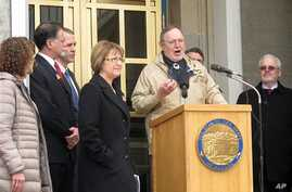"""U.S. Representative Don Young addresses a Choose Respect rally in front of the Alaska state capitol on March 28, 2013, in Juneau, Alaska. While drawing criticism for calling Hispanics """"wetbacks,"""" he also is facing an ethics investigation for a separa"""
