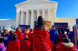 Native women rallied at the U.S. Supreme Court on December 7, 2015, to call attention to high rates of violence in Indian Country. Photo by Indianz.Com