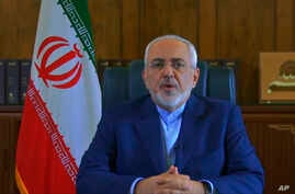 In this footage made available by the Iranian Government via YouTube on May 3, 2018, Iranian Foreign Minister Mohammad Javad Zarif delivers a message, in Tehran.