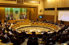 A general view of the Arab foreign minister's meeting at the Arab League in Cairo, Egypt, Jan. 10, 2016.