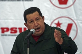 Venezuela's President Hugo Chavez speaks during a meeting with United Socialist party members in Caracas after gaining decree powers for 18 months, Dec 17, 2010 (file photo)
