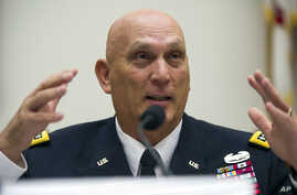 Army Chief of Staff Gen. Ray Odierno testifies before the House Armed Services on Capitol Hill in Washington, Sept. 18, 2013.