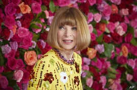 FILE - Anna Wintour arrives at the 72nd annual Tony Awards at Radio City Music Hall, June 10, 2018, in New York.
