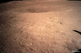 The far side of the moon, photographed by the Chang'e-4 lunar probe, is seen in this image provided by China National Space Administration, Jan. 3, 2019.