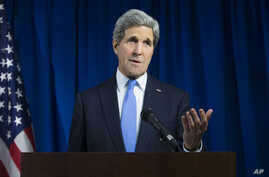 FILE - U.S. Secretary of State John Kerry will attend the Vibrant Gujarat Global Investors Summit, set for January 11-13 in Ahmedabad, India.