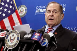 U.S. Rep. Jerrold Nadler, D-NY, Chairman of the House Judiciary Committee, speaks during a news conference, in New York,  May 29, 2019.