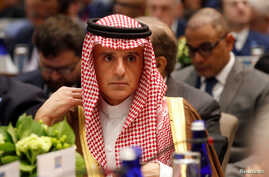 Saudi Foreign Minister Adel Al-Jubeir attends a gathering of foreign ministers aligned toward the defeat of Islamic State at the State Department in Washington, Feb. 6, 2019.