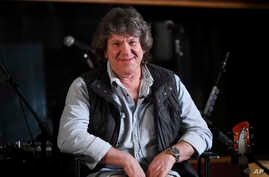 Woodstock co-producer and co-founder, Michael Lang, participates in the Woodstock 50 lineup announcement at Electric Lady Studios, March 19, 2019, in New York.