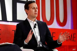 Jared Kushner, senior adviser to President Donald Trump, speaks during the TIME 100 Summit, in New York, April 23, 2019.
