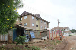 "This June 7, 2019 image shows the Silver Spring residence in Kumasi, where two Canadian women, 19 and 20 years old, were living before being kidnapped on June 4. - The Canadians, charity volunteers were taken on the evening of June 4, in Kumasi, Ghana's second city, some 200 kilometres (125 miles) northwest of the capital Accra, David Eklu, the assistant commissioner of police said in a statement. ""Police Command is investigating a complaint of kidnapping at Ahodwo, Kumasi Royal Golf Club, at 8:25 pm on 4 J"