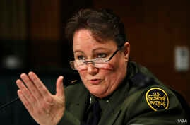 U.S. Border Patrol Chief Carla Provost testifies during a Senate Judiciary Border Security and Immigration Subcommittee hearing about the border, May 8, 2019, on Capitol Hill in Washington.