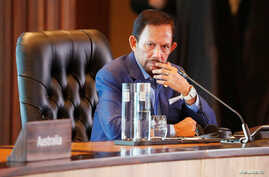Brunei's Sultan Hassanal Bolkiah attends the retreat session during the APEC Summit in Port Moresby, Papua New Guinea November 18, 2018.