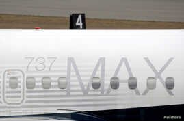 A Boeing 737 MAX 8 aircraft is parked at a Boeing production facility in Renton, Washington, U.S., March 11, 2019.