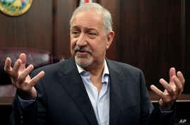 FILE - In this Sept. 2, 2016, file photo, attorney Mark Geragos talks to the media during a news conference in downtown Los Angeles.