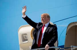 President Donald Trump arrives in Colorado, May 30, 2019, to attend the 2019 United States Air Force Academy Graduation Ceremony.