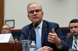 Daniel Elwell, acting administrator of the Federal Aviation Administration, testifies during a House Transportation Committee hearing on Capitol Hill in Washington, May 15, 2019, on the status of the Boeing 737 MAX aircraft.