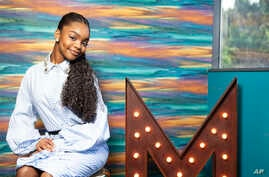 Actress Marsai Martin posing in her office, Genius Productions, in Los Angeles, March 27, 2019.