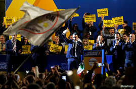 Italy's Deputy Prime Minister Luigi di Maio waves at the final European election rally of the 5-Star Movement, in Rome, May 24, 2019.