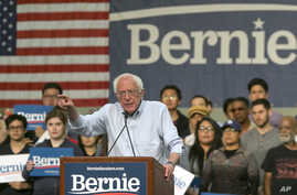 FILE - Democratic presidential candidate Sen. Bernie Sanders, I-Vt., speaks at a campaign event in Pasadena, Calif., May 31, 2019.